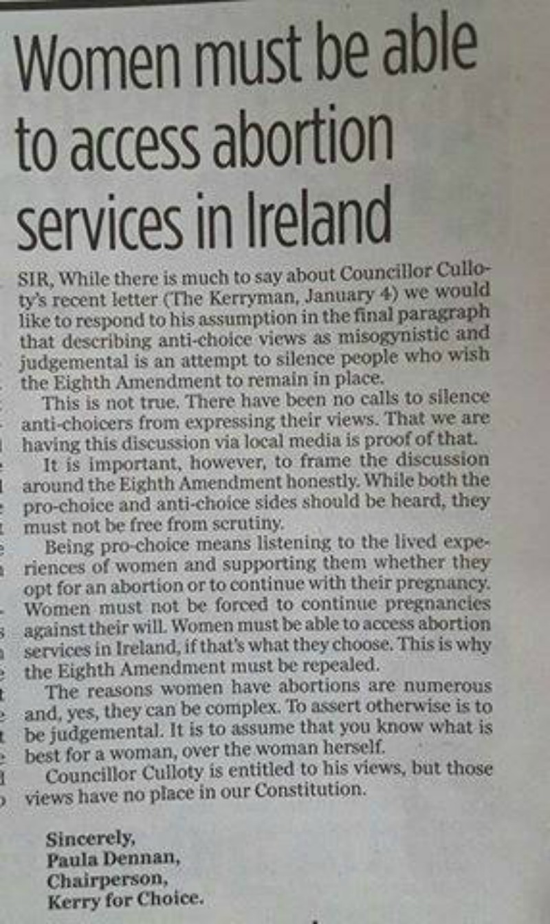 Women Must be Able to Access Abortion Services in Ireland