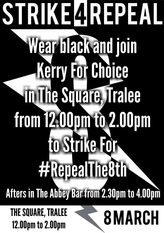 Kerry for Choice calls for Strike for Repeal on March 8th