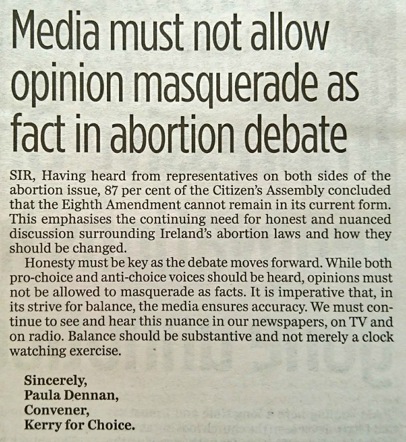 Media must not allow opinion masquerade as fact in abortion debate