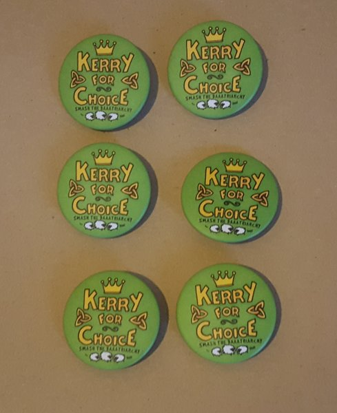 Kerry for Choice Badges (designed by Ciara Kenny)