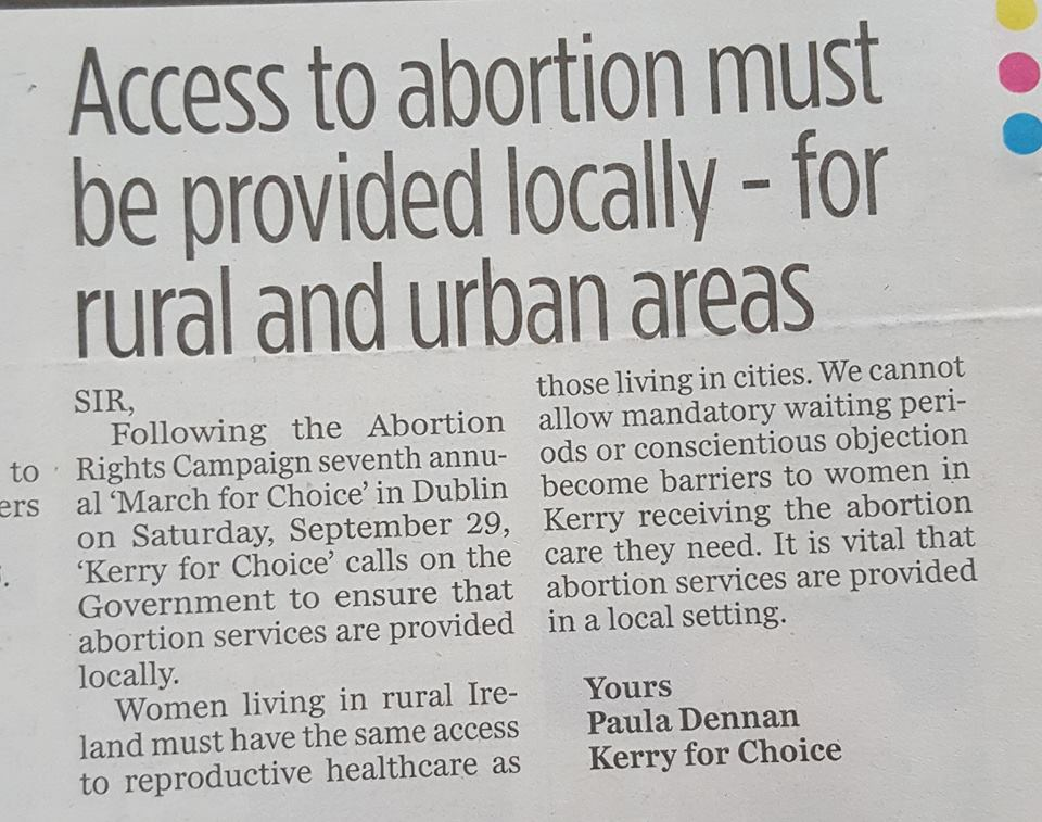 Access to abortion must be provided locally